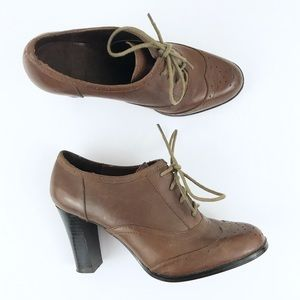 <American Eagle> Oxford Heels Tan Leather Greta